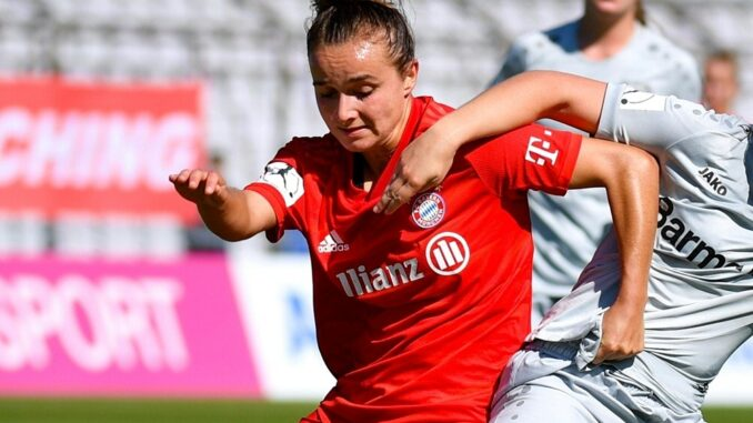 Nationalspielerin Lina Magull setzt den Schlusspunkt. ©PIXATHLON/SID