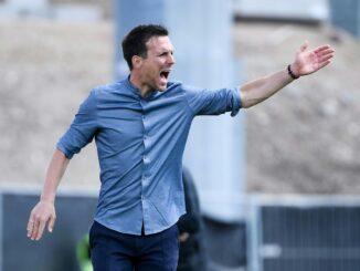 KSC-Trainer Eichner muss sich mit Remis begnügen. ©FIRO/SID