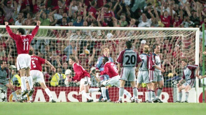 Ole Gunnar Solskjaer erzielt das 2:1 für Manchester. ©AFP