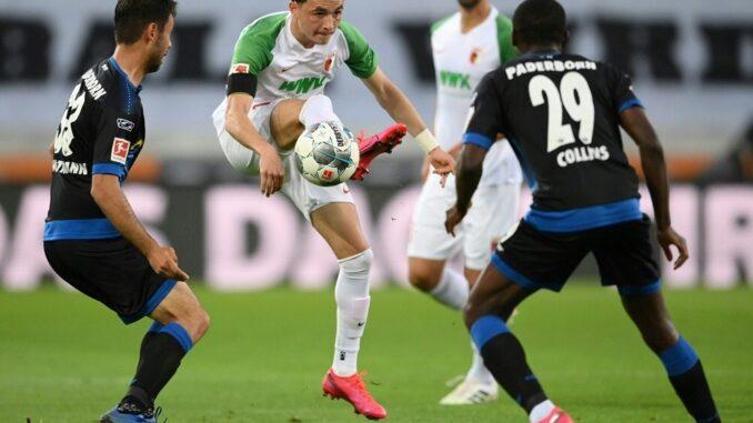 Unentschieden zwischen Augsburg und Paderborn. ©AFP