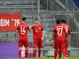 Die Bayern schlagen Frankfurt in einer munteren Partie. ©AFP