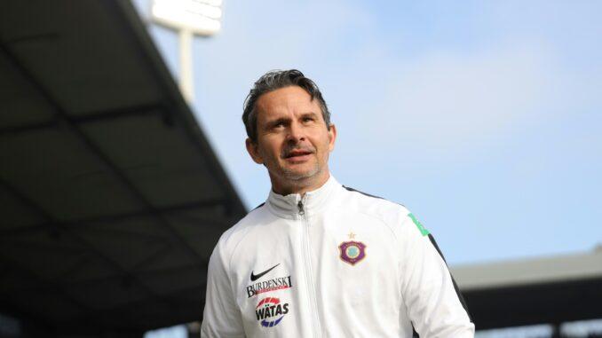 Schrecksekunde für Dirk Schuster und sein Team. ©AFP