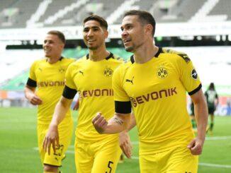 Guerreiro erzielte das 1:0 für Borussia Dortmund. ©AFP