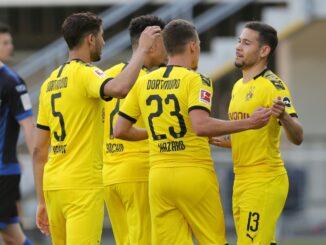 Borussia Dortmund gewinnt verdient in Paderborn. ©FIRO/SID