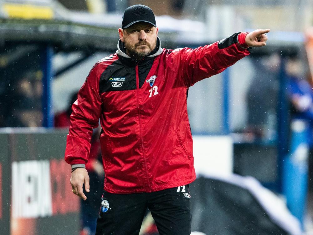 Steffen Baumgart geht mit Paderborn in die 2. Liga. ©FIRO/SID