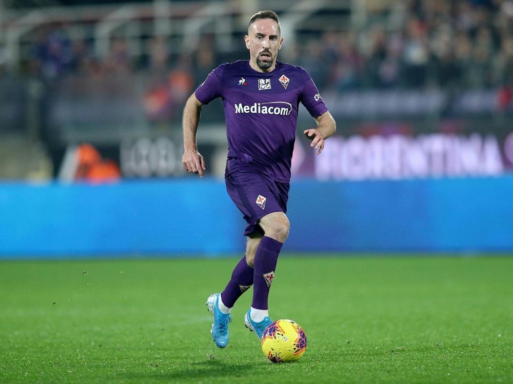 Riberys Treffer reichte Florenz gegen Lazio Rom nicht. ©PIXATHLON/SID