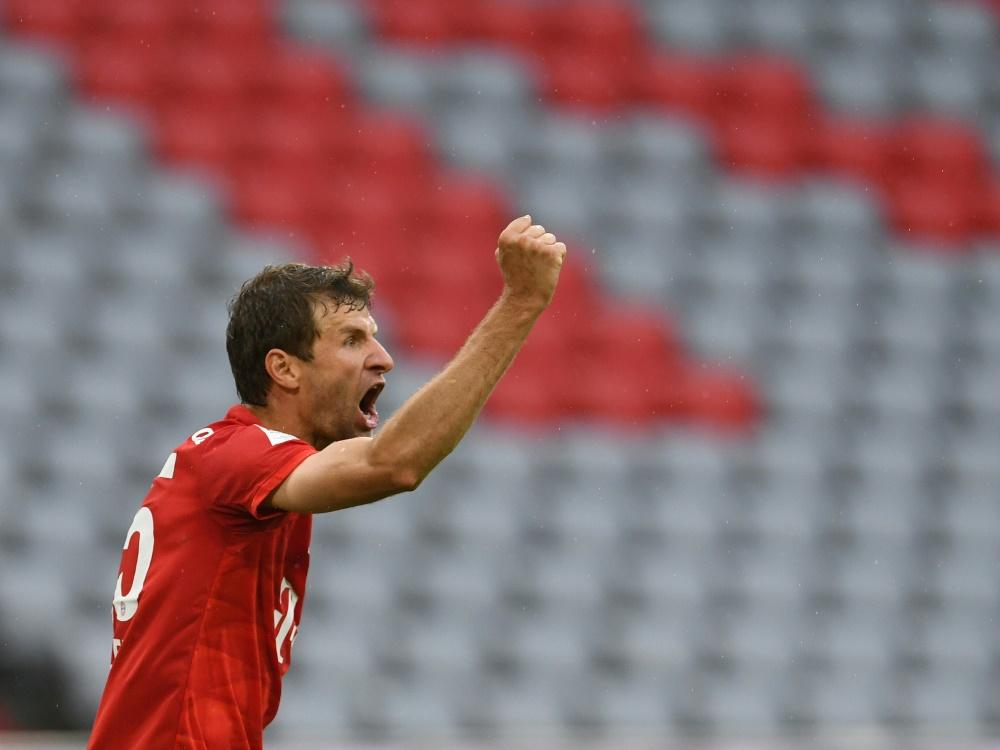 Mit 22 Vorlagen stellte Müller den Bundesliga-Rekord ein. ©SID ANDREAS GEBERT