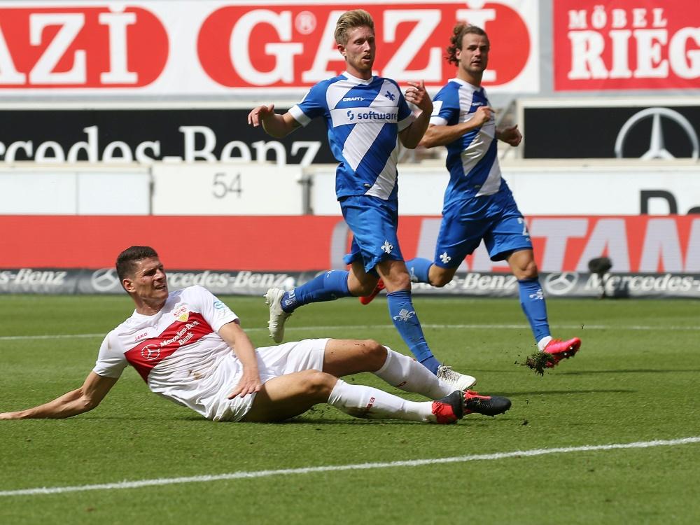 Im seinem letzten VfB-Spiel traf Mario Gomez zum 1:1. ©FIRO/SID