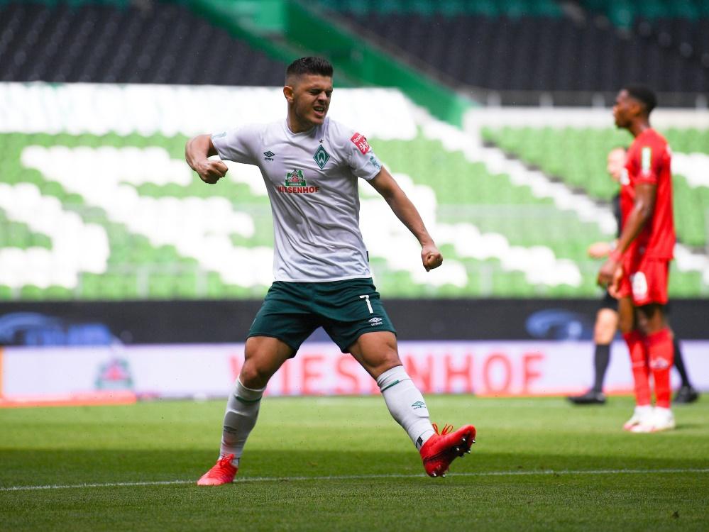 Werder gelang der Sprung auf Platz 16. ©GES/FIRO/SID