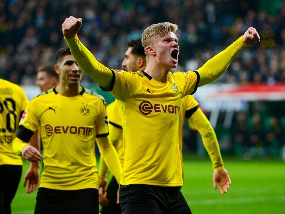 Haaland verzauberte in der Rückrunde die Bundesliga. ©SID PATRIK STOLLARZ