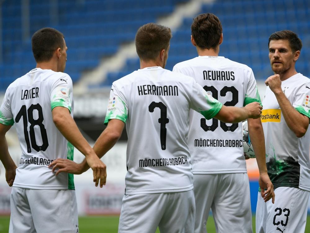 Mönchengladbach setzte sich gegen Paderborn durch. ©SID INA FASSBENDER