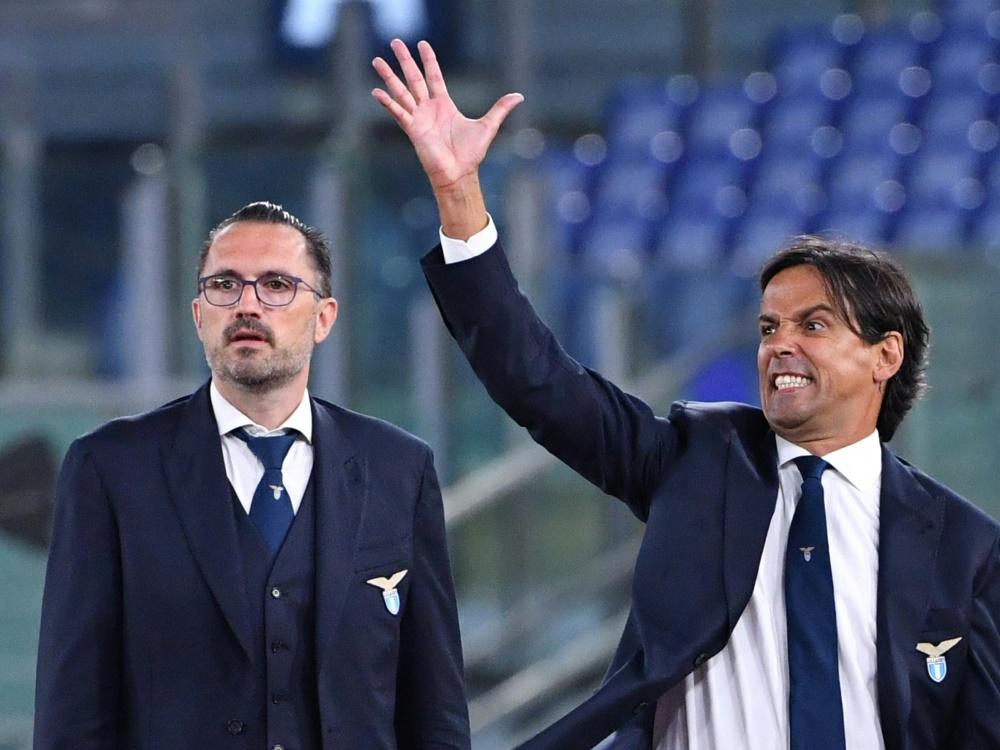 Inzaghi (r.) steigt mit Benevento auf. ©SID ALBERTO PIZZOLI