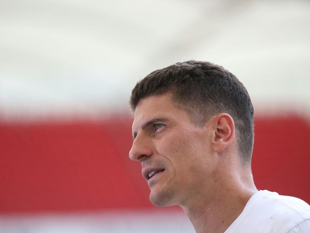 Traf in seinem letzten Spiel für den VfB: Mario Gomez. ©FIRO/SID