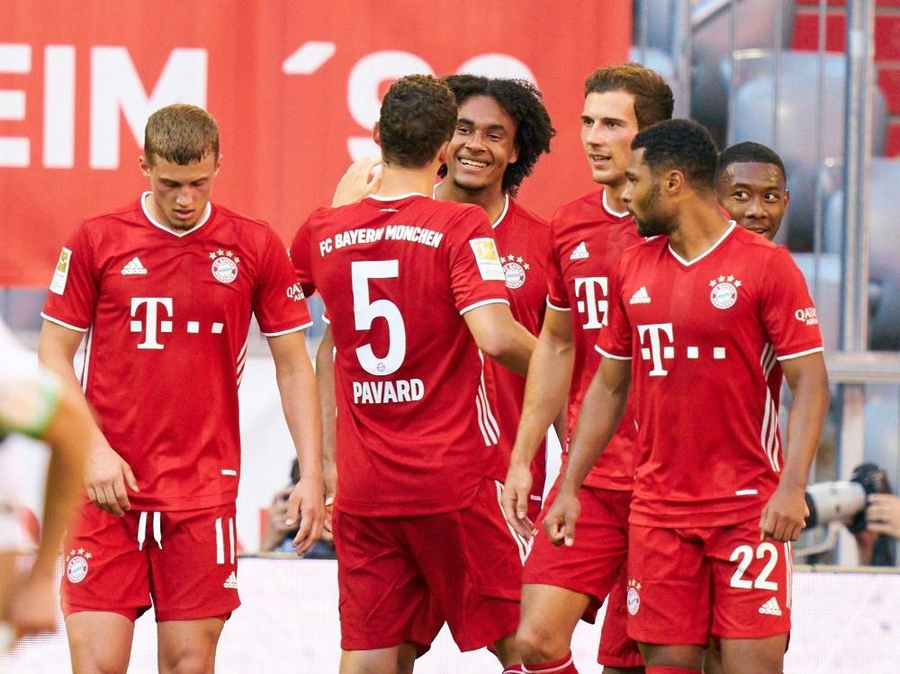 Bayern siegt dank Goretzka und Zirkzee gegen Gladbach. ©FIRO/SID