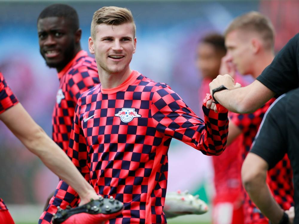 Timo Werner dürfte nicht für seinen neuen Klub spielen. ©SID HANNIBAL HANSCHKE