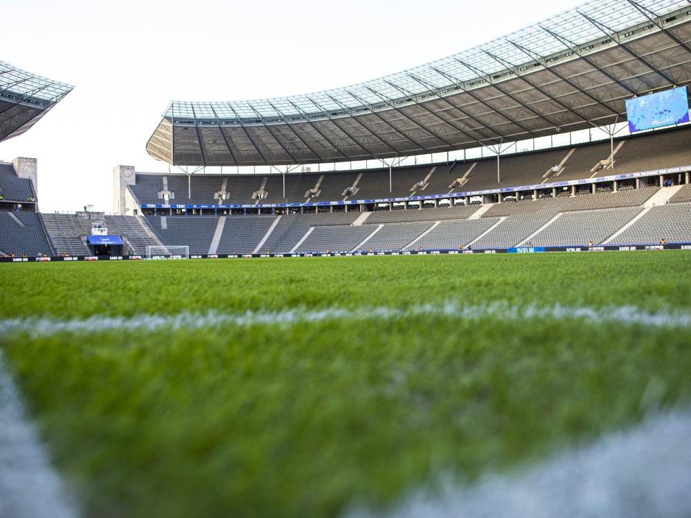 Kein nennenswertes Zuschaueraufkommen beim Pokalfinale. ©FIRO Sportphoto/SID