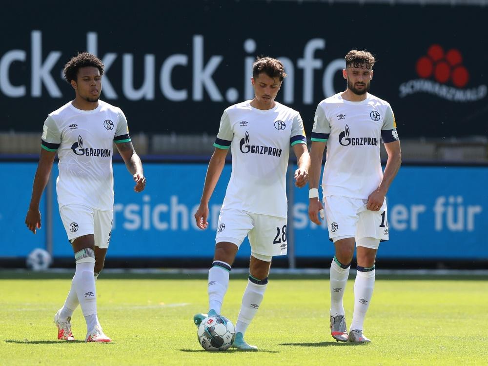 Schalke enttäuschte auch in Freiburg. ©FIRO Sportphoto/SID