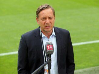 Horst Heldt spricht über Schwächephase nach BL-Restart. ©FIRO/SID