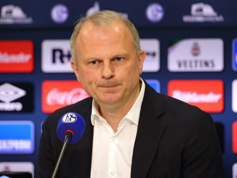 """Schalke-Sportvorstand Schneider: """"Nicht ständig im Traumland leben"""""""