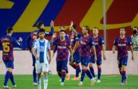 Barca gewinnt Stadtderby und wahrt Meisterchance - Espanyol steigt ab