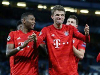 Die Bayern könnten im Viertelfinale auf Barca treffen. ©FIRO/SID
