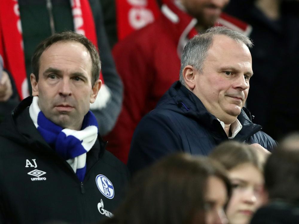 Schneider (r.) und Jobst dementieren Berichte nicht. ©FIRO Sportphoto/SID