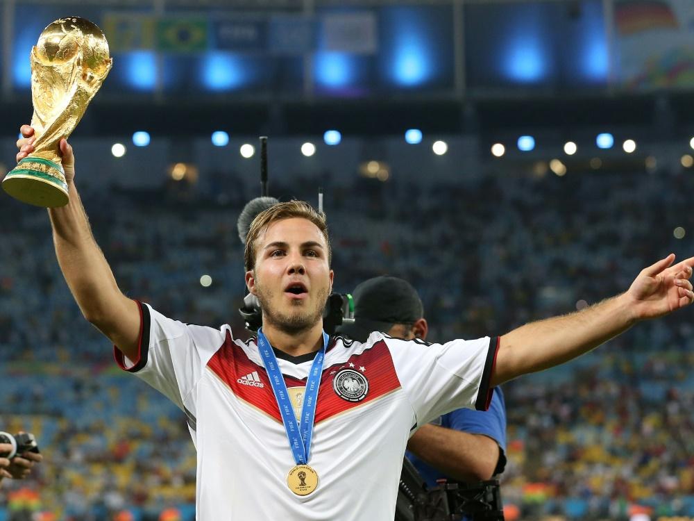 Der große Moment in der Karriere von Mario Götze. ©FIRO SPORTPHOTO/SID