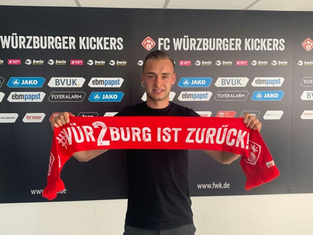 Kopacz kommt vom Bundesliga-Aufsteiger VfB Stuttgart. ©Würzburger Kickers