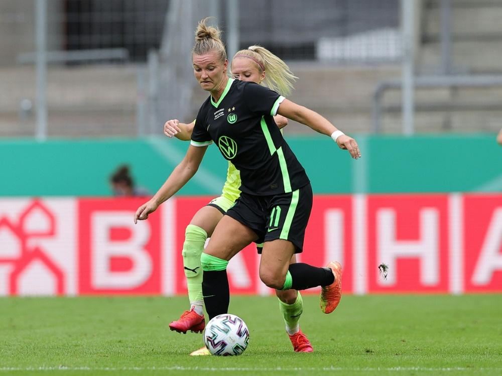 Alexandra Popp eröffnet mit dem VfL Wolfsburg die Saison. ©FIRO/SID