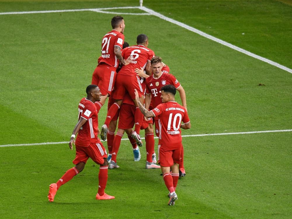 Die Bayern gehen als Titelverteidiger in den DFB-Pokal . ©FIRO/SID