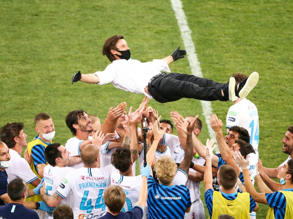Zenit holt sich wie im Vorjahr die Meisterschaft. ©Sputnik/SID Vitaly Timkiv