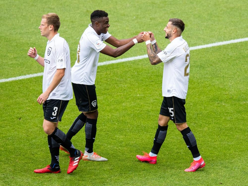 Arminia Bielefeld siegt im Testspiel gegen Espelkamp 5:0. ©FIRO/SID