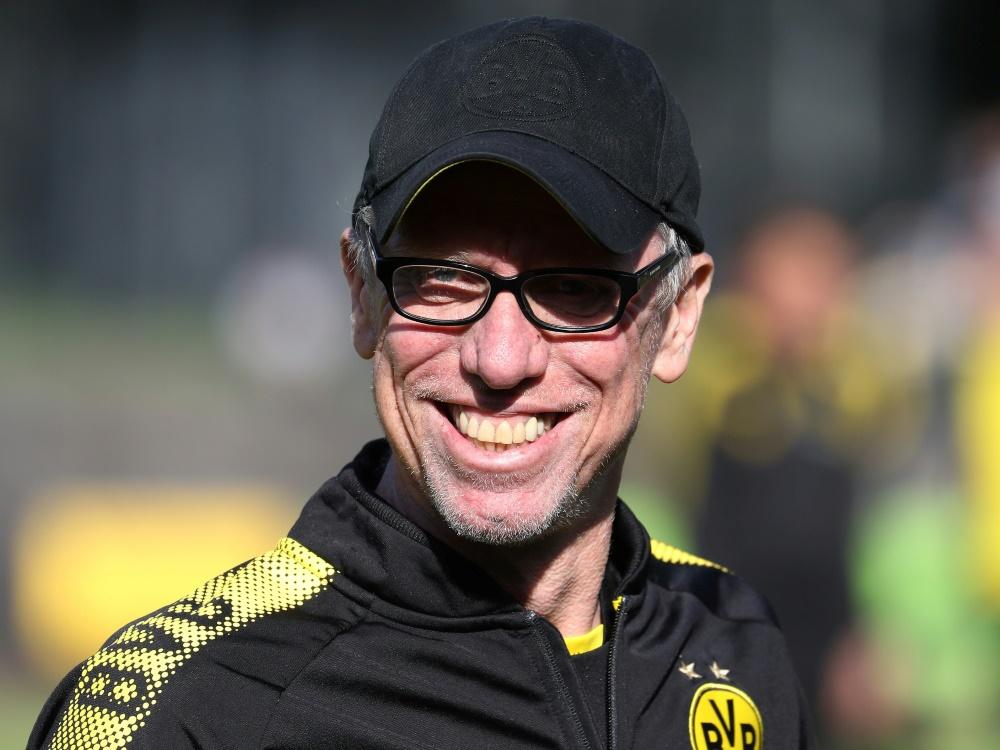 Peter Stöger war ein halbes Jahr lang Trainer beim BVB. ©FIRO/SID