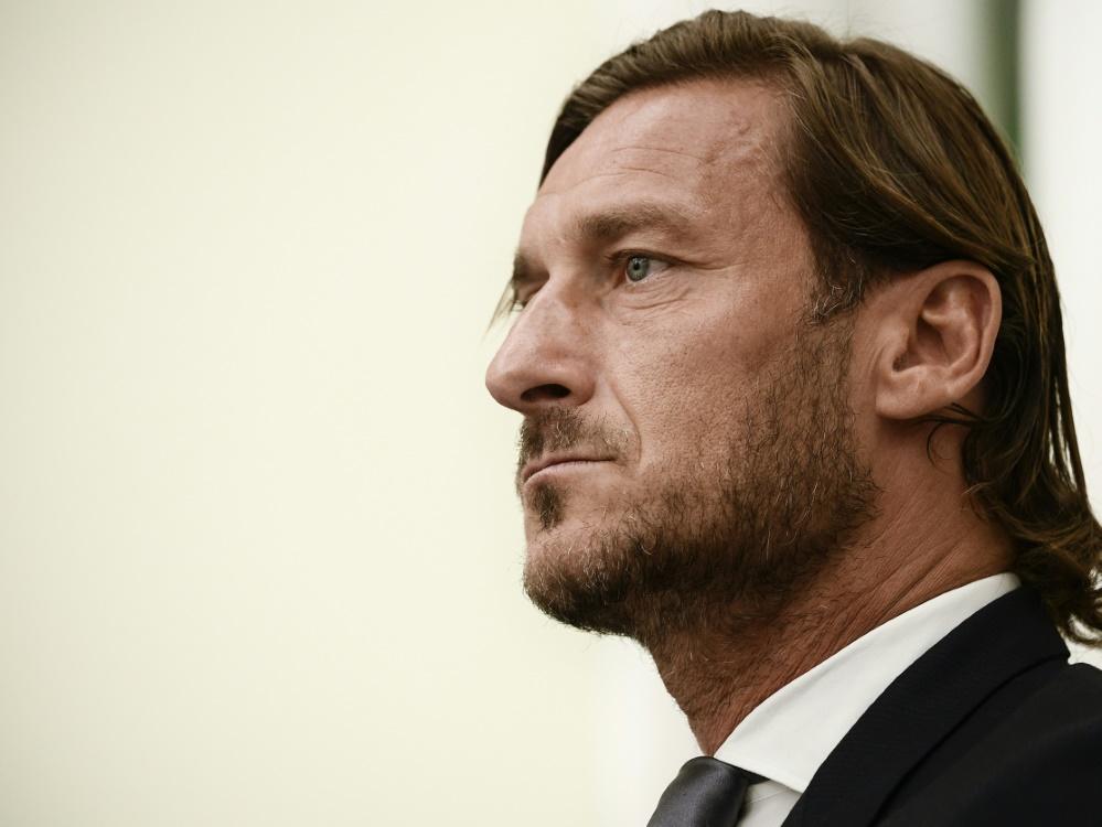 Totti hatte seine Profi-Karriere in Rom 2017 beendet. ©SID FILIPPO MONTEFORTE