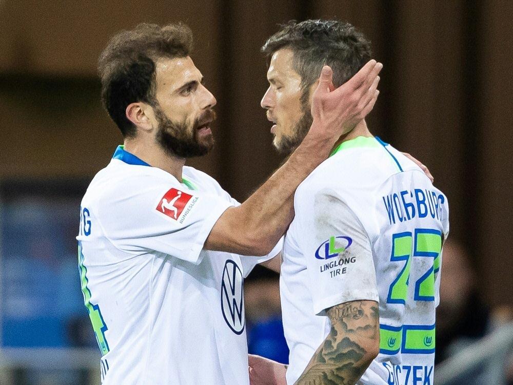 Die Torschützen: Admir Mehmedi (l.) und Daniel Ginczek. ©FIRO/SID