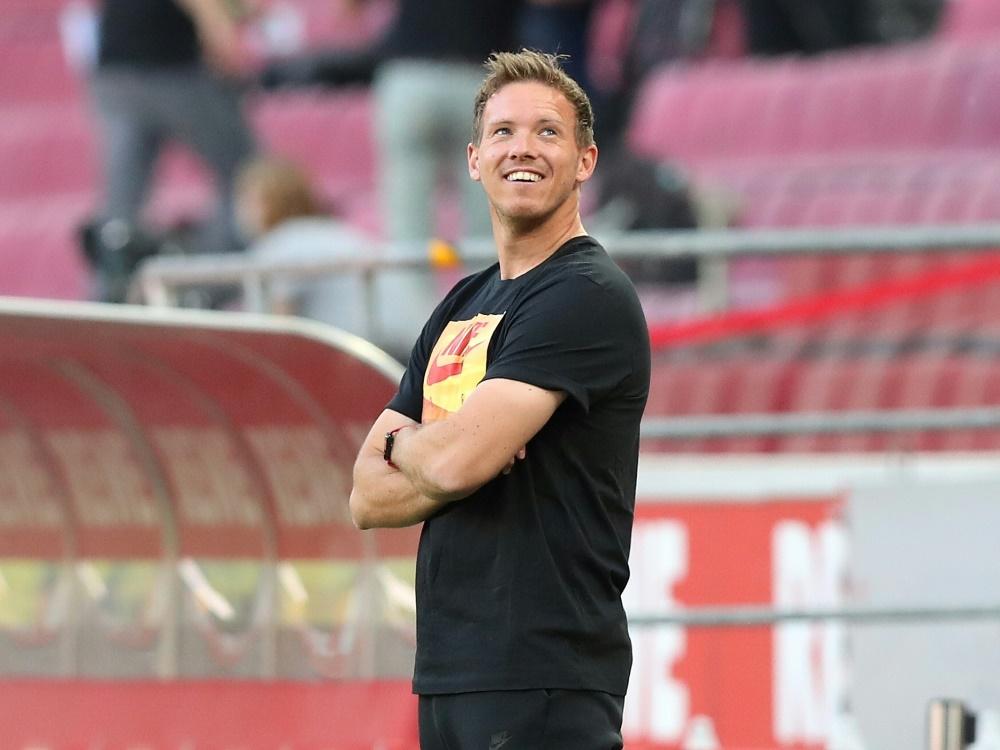 Nagelsmann und Leipzig treffen im DFB-Pokal auf Nürnberg. ©FIRO/SID