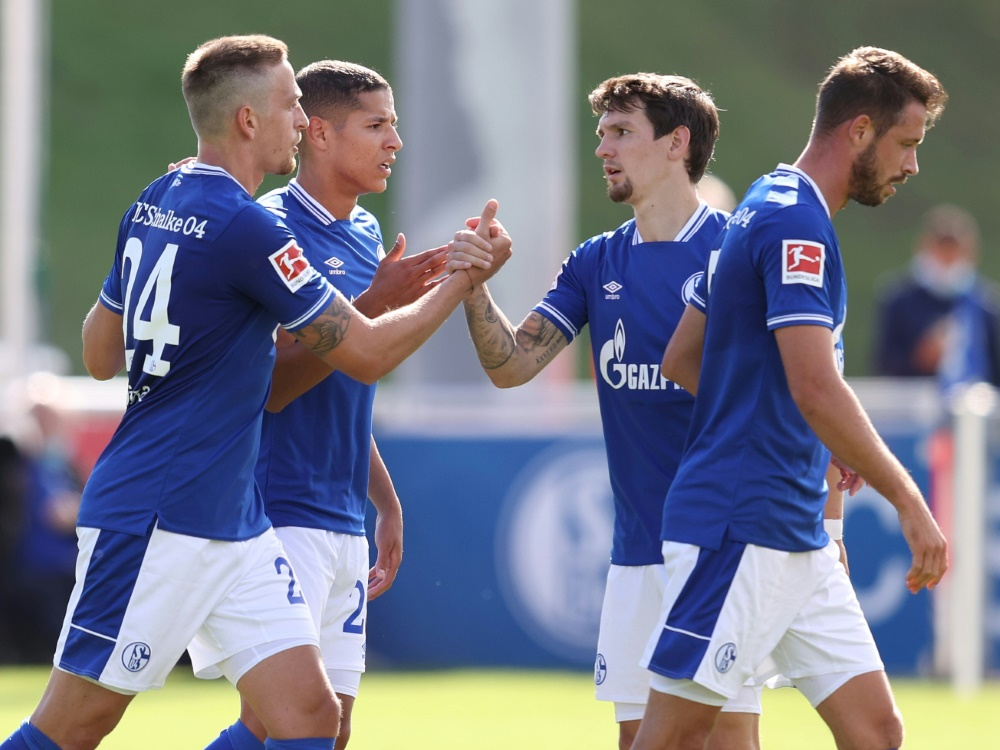 Schalke trifft im DFB-Pokal auf Schweinfurt. ©FIRO/SID