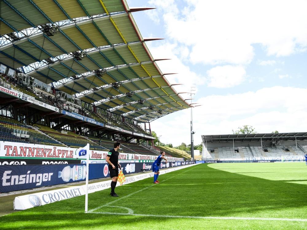 Im Wildparkstadion werden künftig wieder Zuschauer sein. ©FIRO/SID