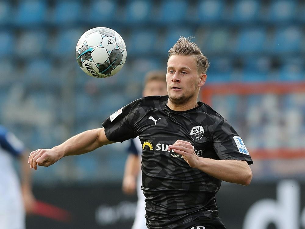 Julius Biada traf doppelt gegen Steinbach. ©FIRO Sportphoto/SID