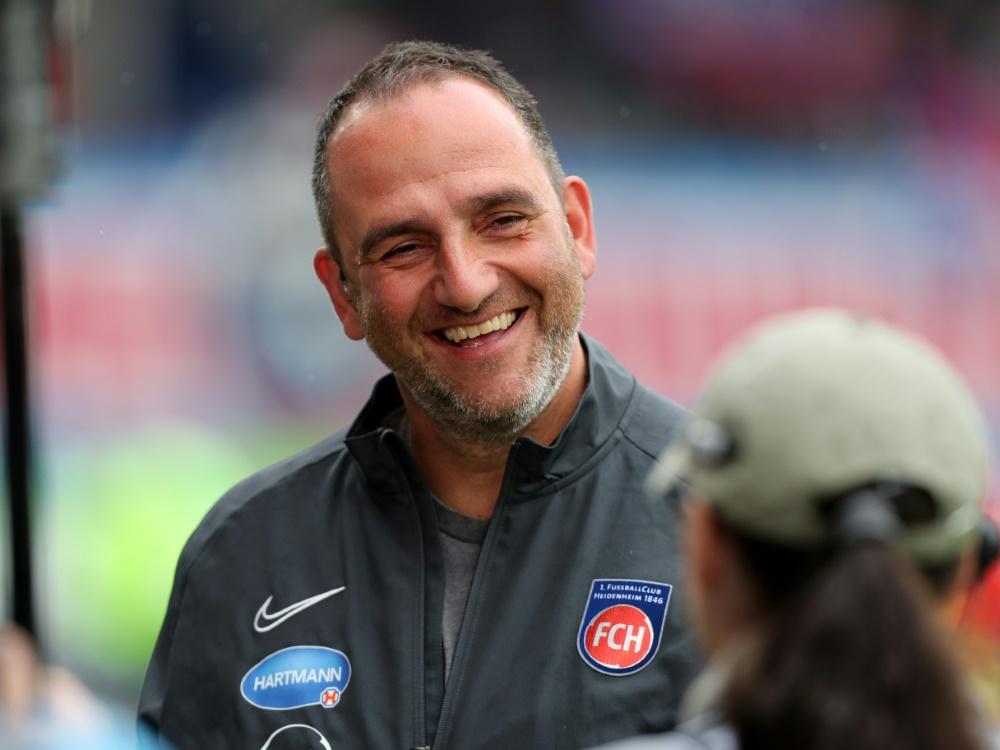 Schmidt und Heidenheim feiern einen gelungenen Ligastart. ©FIRO/SID