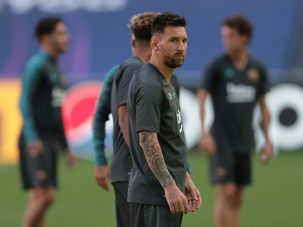 Lionel Messi trainiert wieder mit dem FC Barcelona. ©SID MANU FERNANDEZ