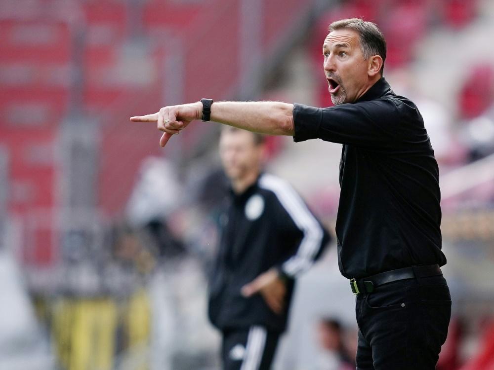"""Achim Beierlorzer setzt gegen Leipzig auf """"Kompaktheit"""". ©FIRO/SID"""