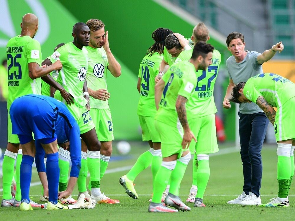 Union Fürstenwalde wird beim VfL Wolfsburg spielen. ©FIRO/SID