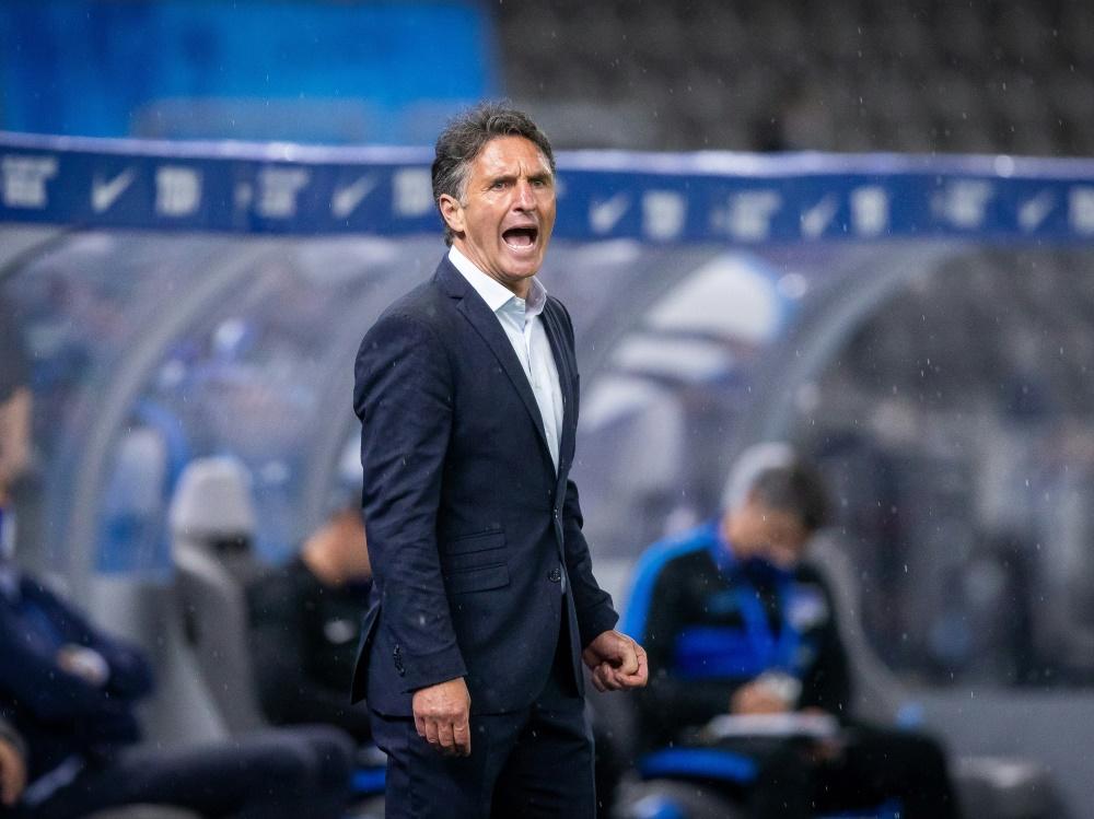 Pokal-Aus für Bruno Labbadia und Hertha BSC. ©FIRO/SID