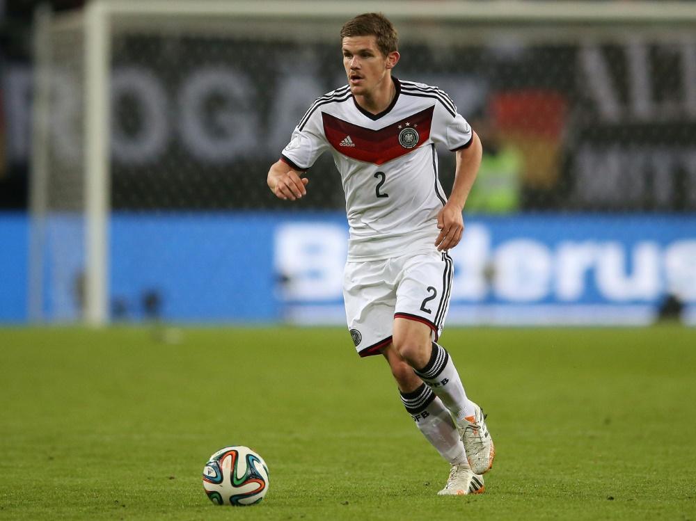 2014 absolvierte er sein erstes und einziges Länderspiel. ©FIRO/SID