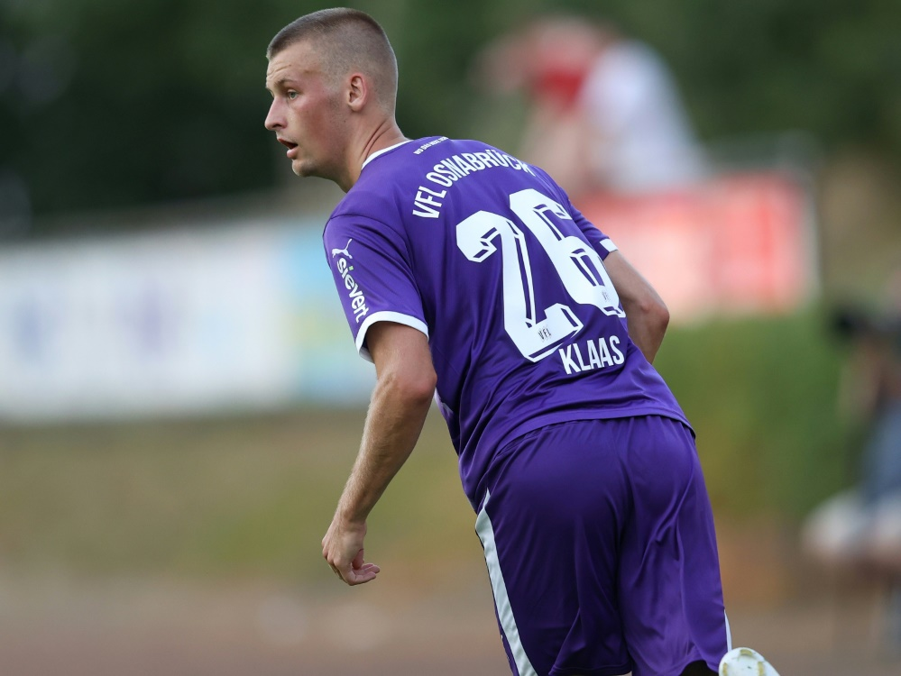 Matchwinner: Osnabrücks Sebastian Klaas traf zum 1:0. ©FIRO/SID