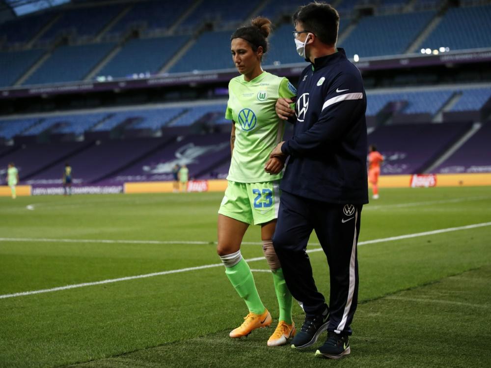 Sara Doorsoun verletzte sich im CL-Finale gegen Lyon. ©SID CLIVE BRUNSKILL