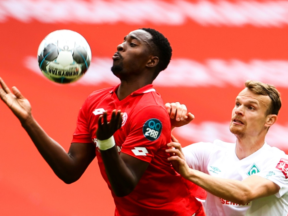 Mateta erzielt gegen Havelse drei Tore. ©SID KAI PFAFFENBACH