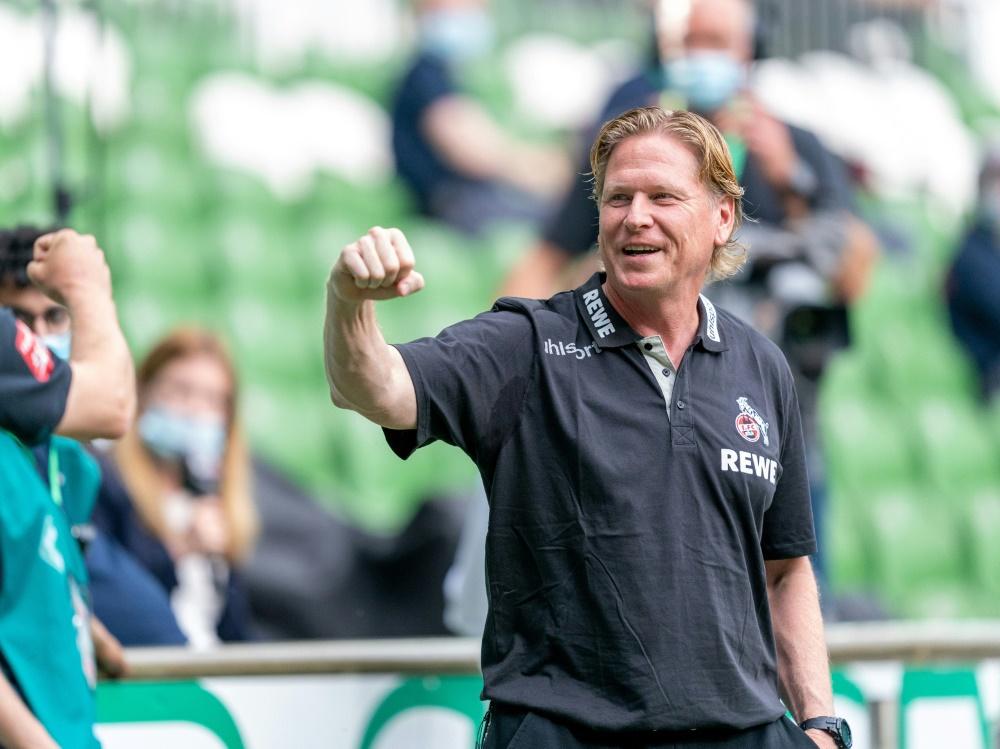 Trainer Gisdol und der 1.FC Köln setzen sich durch. ©FIRO/SID