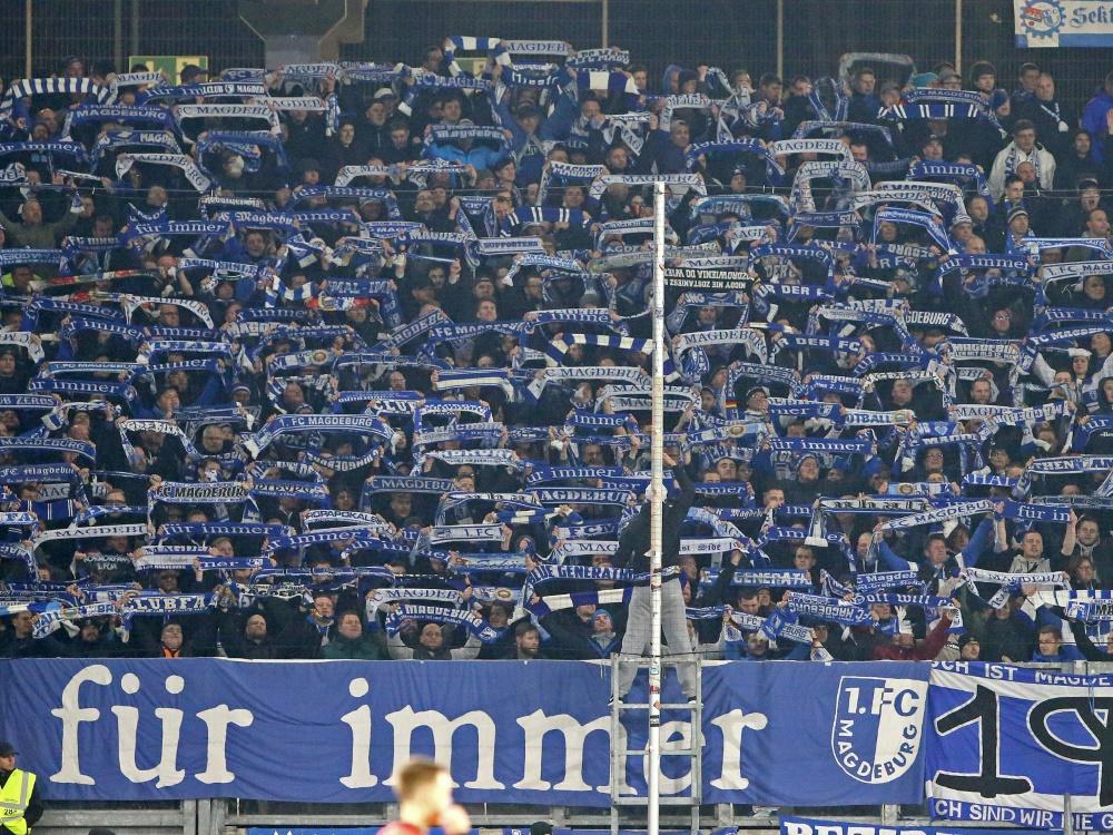 Magdeburg-Fans dürfen beim DFB-Pokal wieder ins Stadion . ©FIRO/SID